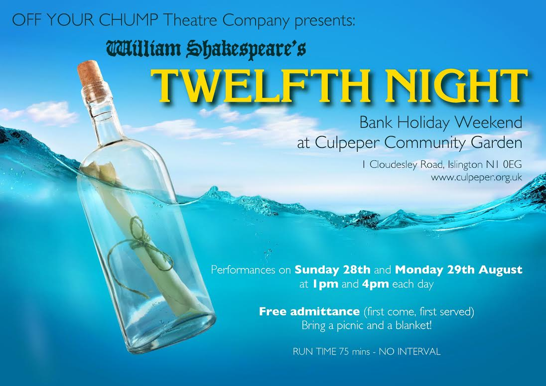 Twelfth Night at Culpeper 28 and 29 August